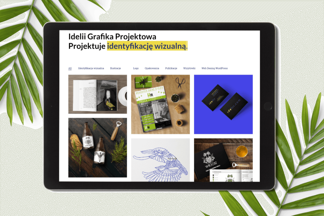Projekt Strony Idelii - WordPress